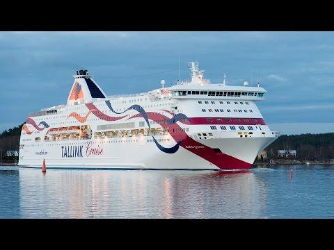 Passenger ships departing Turku, Finland