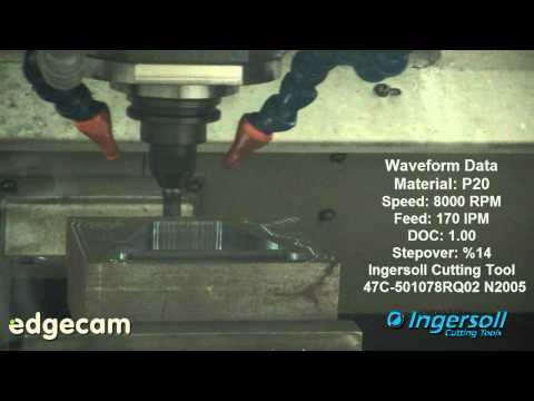 Edgecam Waveform - Cutting P20 Using Ingersoll Tooling