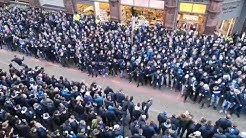 Schalke Fans go crazy in the streets of Manchester