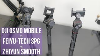 DJI Osmo Mobile vs Feiyu-Tech SPG vs Zhiyun Smooth 3 Comparison: Battle of the Smartphone Gimbals