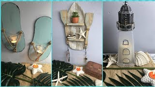 DOLLAR TREE DIY NAUTICAL BEACHY DECOR