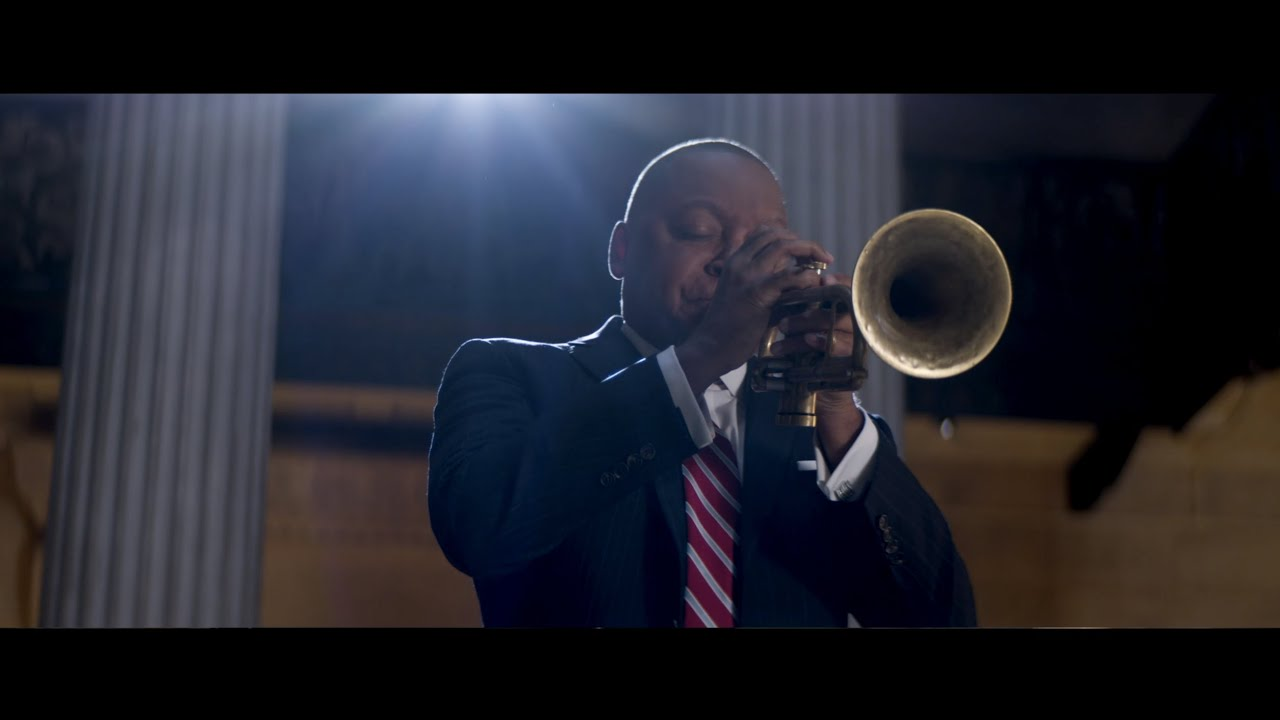 Artwork representing Wynton Marsalis performs Amazing Grace at Federal Hall: Dedication to the Cause of Democracy