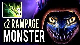 x3 Ultimate Butterfly Slark x2 RAMPAGE !! Hard Carry Monster 7.04 Dota 2