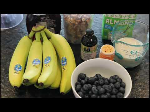 Banana and Blueberry Protein Shake with possible health benefits including Natural Viagraa parody.