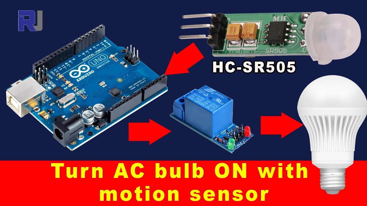 How To Turn An Ac Light On With Hc Sr505 Motion Sensor And Relay Ultrasonic Detector Circuits Alarm Free Electronic