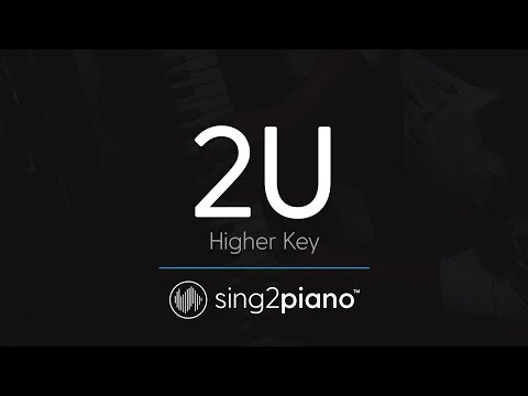 2U [HIGHER Piano Karaoke] David Guetta & Justin Bieber