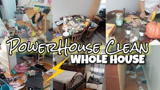 WHOLE HOUSE CLEAN WITH ME 2019 |⚡POWERHOUSE SPEED CLEANING | SAHM EXTREME CLEANING MOTIVATION