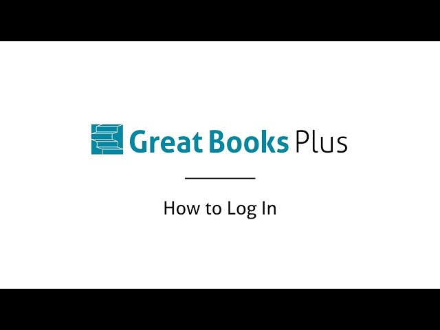 Great Books Plus — How to Log In