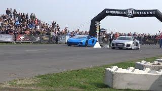 Drag Race! Lamborghini Aventador S vs Audi V10 Plus MF-RS 750 Spring Event Weeze