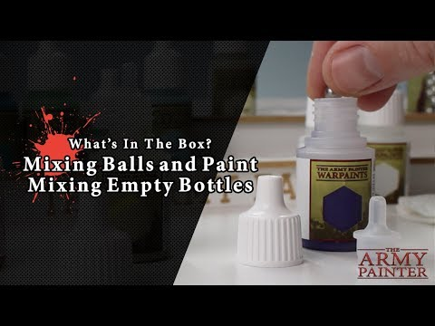 What's In The Box? Mixing Balls & Paint Mixing Empty Bottles