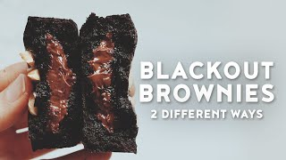 Blackout Brownies - 2 Ways - Inspired by Singapore's Current Hottest Brownies
