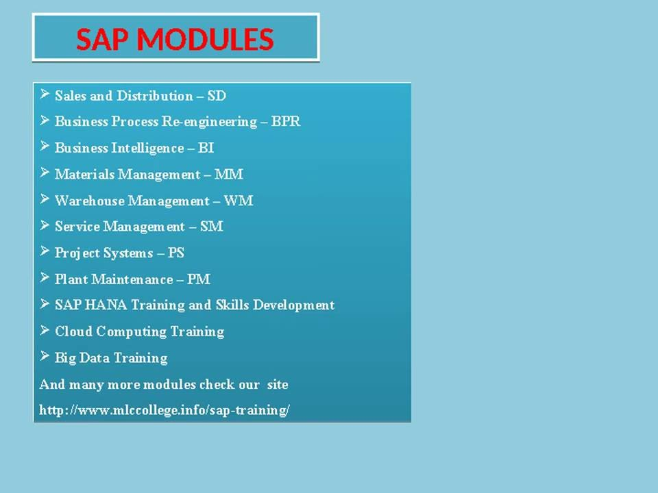 ERP Training Worldwide With International Certification