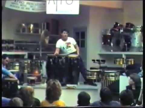 Raul Rekow percussion clinic - November 22, 1986