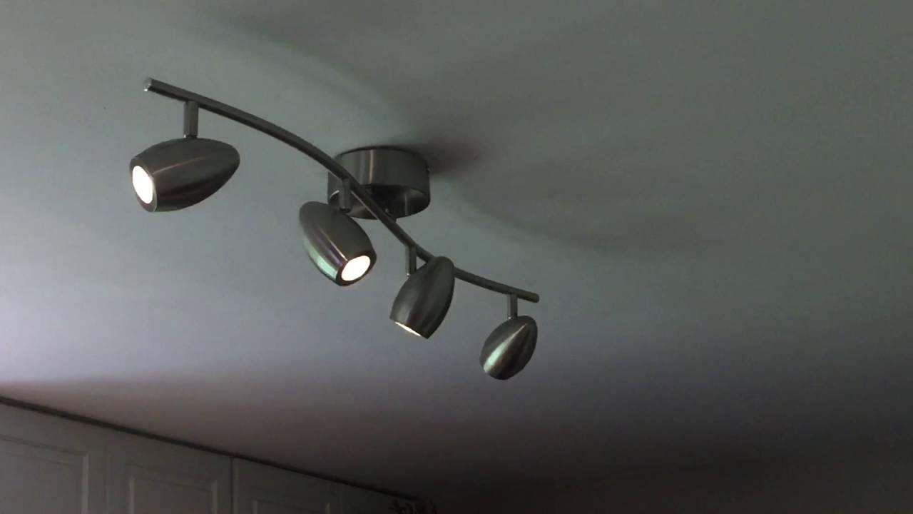 Brushed Nickel Led Track Lighting Kit With 4 Lights