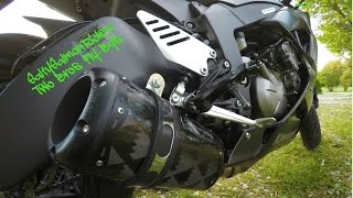 Two Brothers Black Series Fly-Bys on 2015 Zx6r 636
