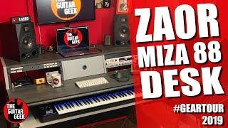 The Zaor Miza Studio Desk - The Guitar Geek Studio Tour: Part 2