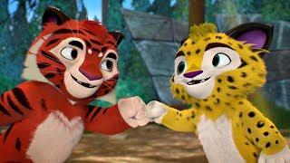 Лео и Тиг сборник серий с 7 по 9 | Про животных для детей / Мультфильм HD