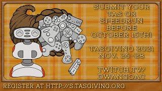 TASGiving 2021 coming Nov 26-28! Submit TAS/RTA runs now at http://s.tasgiving.org