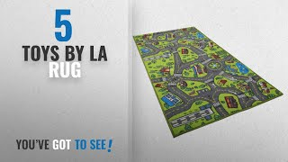 Top 10 La Rug Toys [2018]: Kids Carpet Playmat Rug City Life Great For Playing With Cars and Toys -