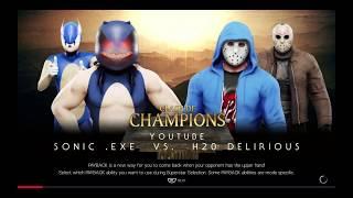WWE 2K19 sonic Exe vs h20