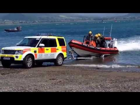 Irish Coastguard Rescue Boat Launch