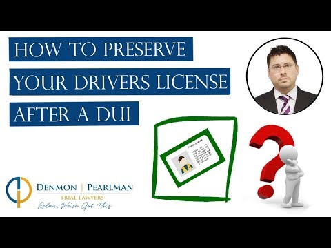 How To Preserve Your Drivers License After A DUI in Florida?