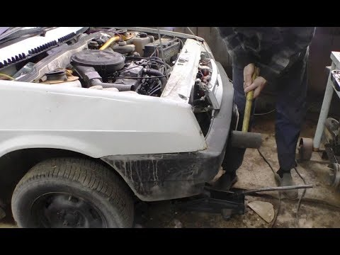 Простой ремонт разрушенного лонжерона ВАЗ 2109.