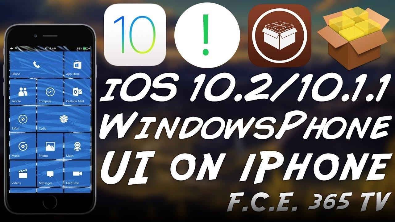 Get Windows Phone UI on iPhone With RedStone Cydia Tweak (iOS 10 x)