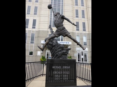 Michael Jordan Statue 360 Degree before moving to the atrium