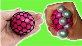 DIY Squishy Mesh Stress Ball! How to make cool stress ball
