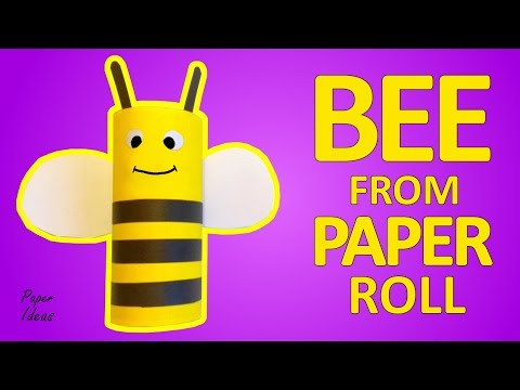 How to make BEE from TOILET PAPER ROLL
