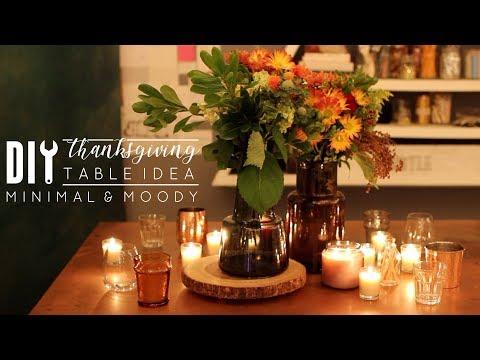 DIY Thanksgiving Table Decor | Easy, Minimal & Moody