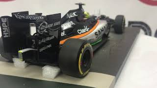 Formula 1 Mercedes Force India Checo Perez Auto a Escala 1:18 Minichamps