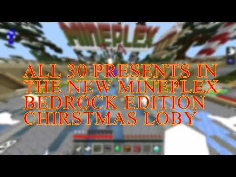 Christmas 2020 Mineplex All 30 Presents In The New Christmas 2019 Bedrock Lobby Guide