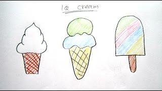 ice draw easy drawing cartoon beginners creams tutorial