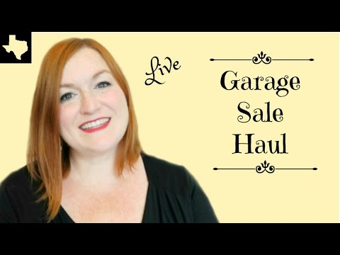 Live Garage Sale Haul - Ebay, Etsy & Amazon FBA Haul Video - What I'm Selling Online