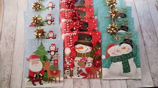 Hot Coco Pouches and Bow Paper Clips using Dollar Tree Items by Rosa Gomez
