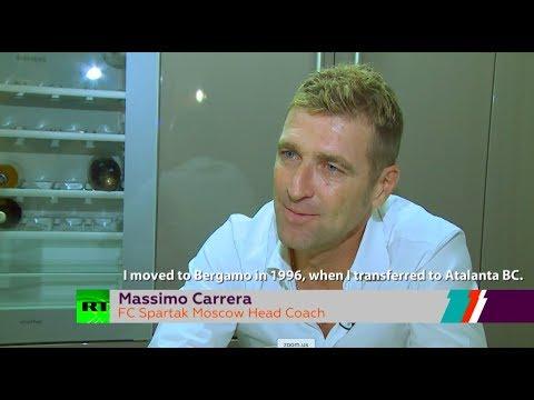 Spartak manager Massimo Carrera interview with Maria Komandnaya