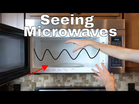 Putting Glow-in-the-Dark Things in a Microwave to Get Standing Waves