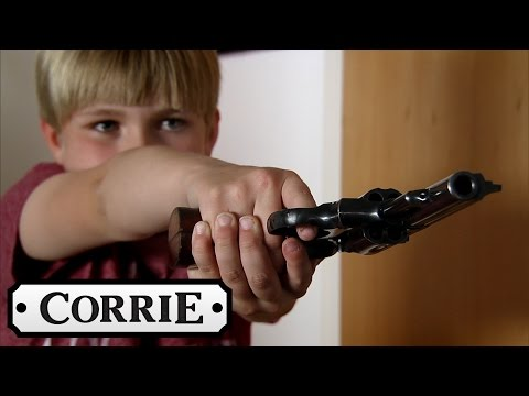 Coronation Street - Max Pulls A Gun On Callum