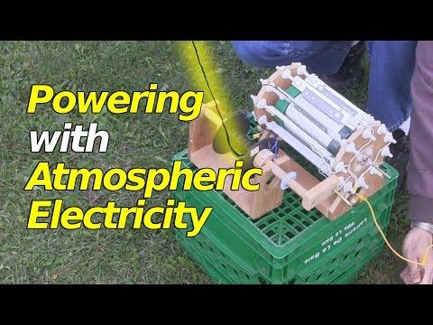 Atmospheric Electricity Powering a Corona Motor/Electrostatic Motor