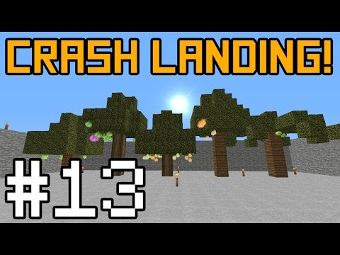 Minecraft Crash Landing - Amazing Orchard! #13