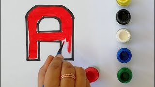 Learn  Alphabet A to Z| Learn block style alphabet| Alphabets Colouring and Drawing| Colouring Pages
