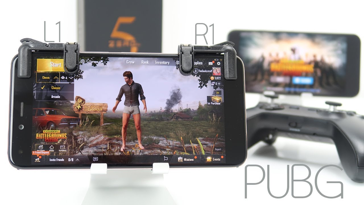 Pubg L1 R1 Trigger Controller Pubg Joystick Youtube