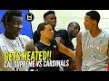 GETS HEATED! Shareef O'Neal & Bol Bol vs Cole Anthony at Nike Peach Jam! Cal Supreme vs PSA