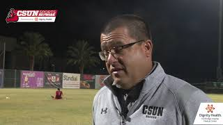 CSUN Men's Soccer vs. Cal Poly Postmatch Interview