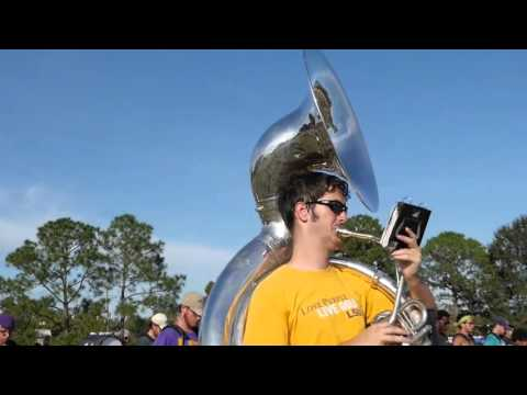 LSU marching band practices Gamecocks fight song and alma mater