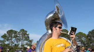 getlinkyoutube.com-LSU marching band practices Gamecocks fight song and alma mater