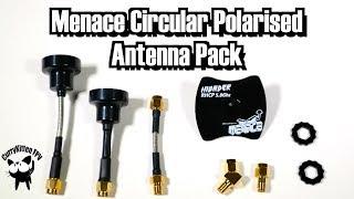 FPV Reviews: Menace circular polarised antenna pack