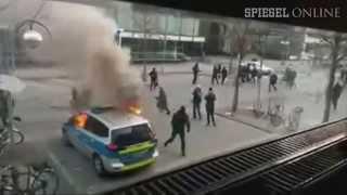 Blockupy EZB Proteste  Polizeirevier angegriffen thumbnail